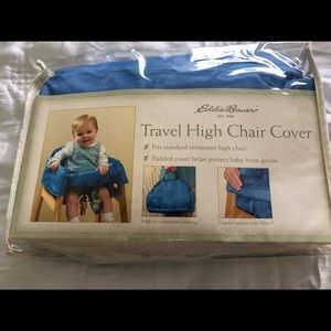 Other - Eddie Bauer blue travel high chair cover